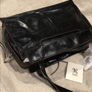 Hobo Affinity black leather shoulder handbag